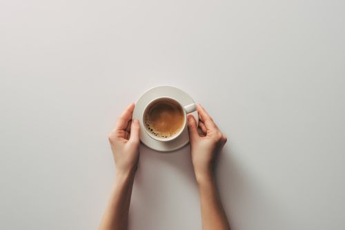 Kaffee trinken bild