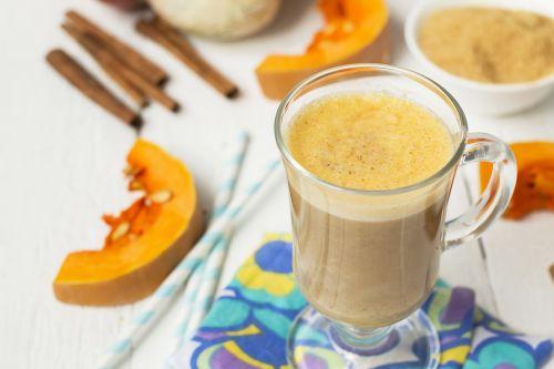 Kürbis latte bild